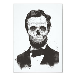 Dead Lincoln (black and white) Card