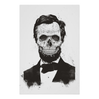 Dead Lincoln (black and white) Poster