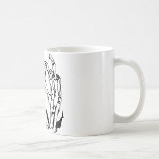 Dead Man Skeleton Hands Coffee Mug