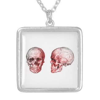 Dead Man's Mug Shot Square Pendant Necklace