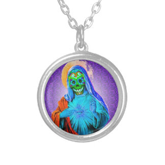 Dead Mary Silver Plated Necklace