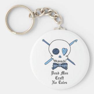 Dead Men Craft No Tales (Blue) Basic Round Button Keychain