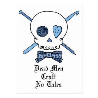 Dead Men Craft No Tales (Blue) Postcard