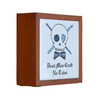 Dead Men Craft No Tales - Craft Skull (Blue Back) Pencil Holder