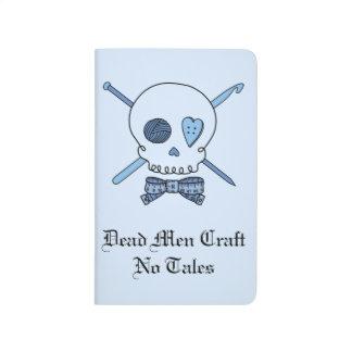 Dead Men Craft No Tales - Craft Skull (Blue Back) Journal