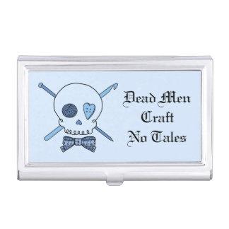 Dead Men Craft No Tales - Craft Skull (Blue Back) Business Card Cases