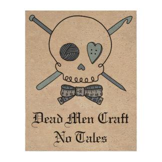 Dead Men Craft No Tales - Craft Skull Blue Back Cork Paper Prints