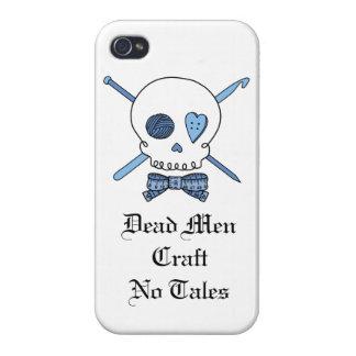 Dead Men Craft No Tales - Craft Skull (Blue) Case For iPhone 4
