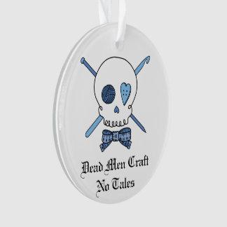 Dead Men Craft No Tales - Craft Skull (Blue) Ornament