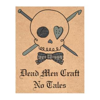 Dead Men Craft No Tales - Craft Skull Blue Queork Photo Print