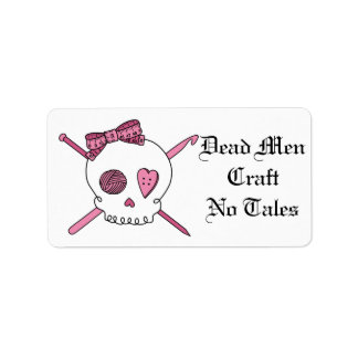 Dead Men Craft No Tales (Hair Bow) Label