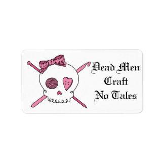 Dead Men Craft No Tales (Hair Bow) Address Label