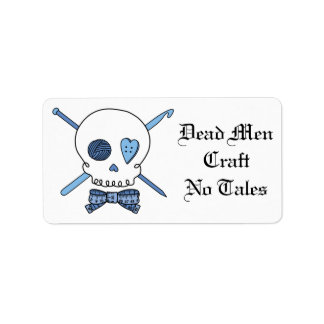 Dead Men Craft No Tales - Knit & Crochet (Bow Tie) Address Label