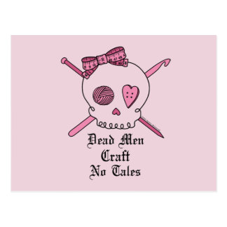 Dead Men Craft No Tales (Pink Background) Postcard