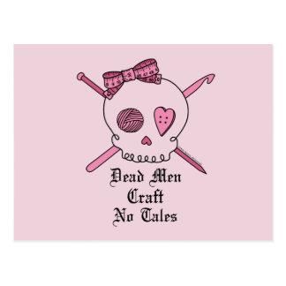 Dead Men Craft No Tales (Pink Background) Postcard