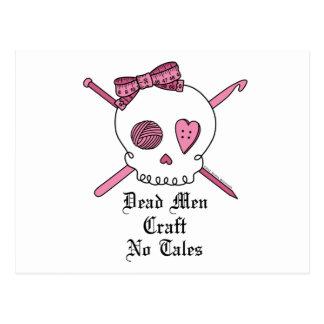 Dead Men Craft No Tales (Pink) Postcard