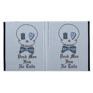 Dead Men Hem No Tails (Blue Background) iPad Case