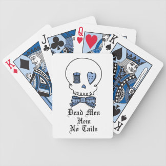 Dead Men Hem No Tails (Blue) Bicycle Playing Cards