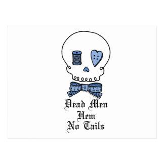 Dead Men Hem No Tails (Blue) Postcard