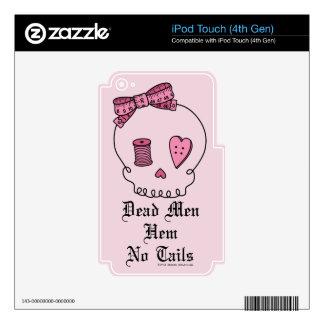 Dead Men Hem No Tails (Pink Background) iPod Touch 4G Decals