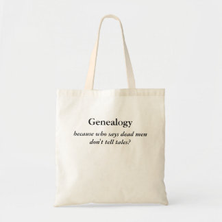 Dead Men Tell No Tales Genealogy Tote Bags