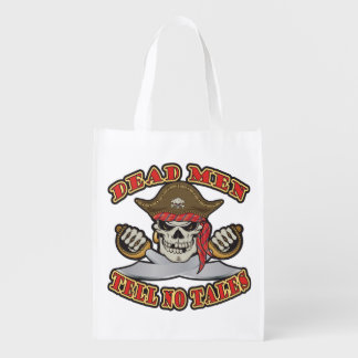 Dead Men Tell No Tales Grocery Bags