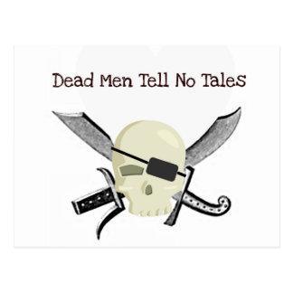 DEAD MEN TELL NO TALES...PIRATE PRINT POSTCARD
