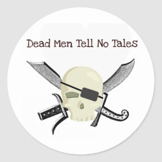 DEAD MEN TELL NO TALES PIRATE PRINT STICKERS