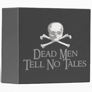 Dead Men Tell No Tales Pirate Skull Binder