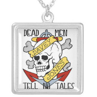 DEAD MEN TELL NO TALES PIRATE SKULL NECKLACE