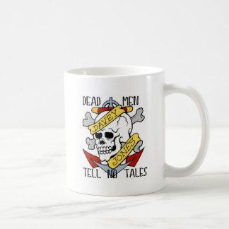 DEAD MEN TELL NO TALES... PIRATE TATTOO DAVEY JONE COFFEE MUG