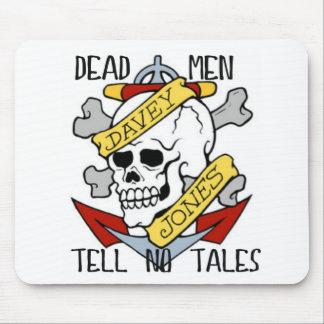 DEAD MEN TELL NO TALES... PIRATE TATTOO DAVEY JONE MOUSE PAD