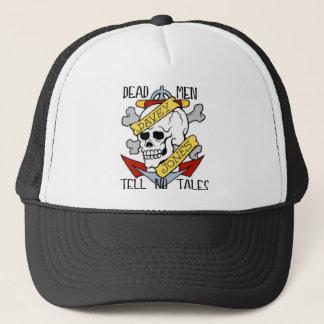 DEAD MEN TELL NO TALES... PIRATE TATTOO DAVEY JONE TRUCKER HAT