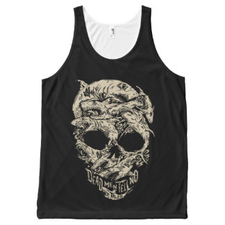 Dead Men Tell No Tales Skull All-Over-Print Tank Top