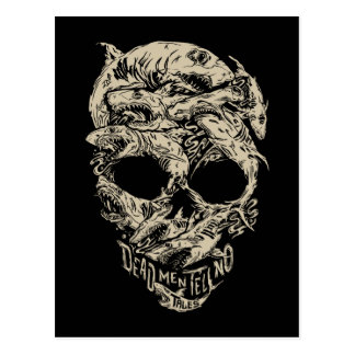 Dead Men Tell No Tales Skull Postcard