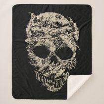 Dead Men Tell No Tales Skull Sherpa Blanket