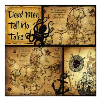 Dead Men Tell No Tales Treasure Map Card