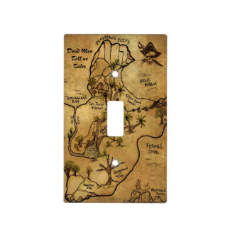 Dead Men Tell No Tales Treasure Map Light Switch Cover