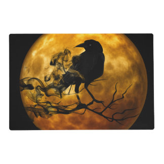Dead moon crow placemat