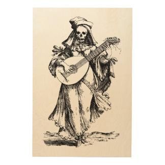 DEAD Musician Wood Print