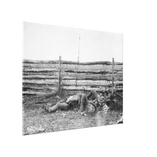 Dead of Stonewall Jacksons Brigade Hagerstown Pike Canvas Print