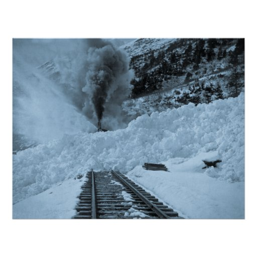 Dead on the Avalanche Tracks Print