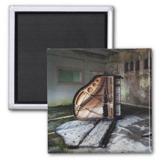 Dead Piano 2 Inch Square Magnet