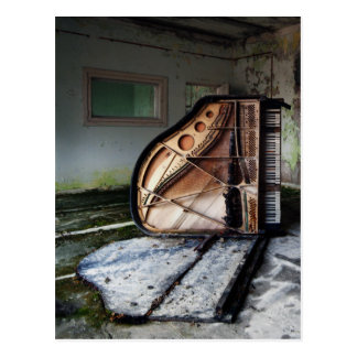 Dead Piano Postcard