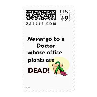 Dead Plants Postage Stamp