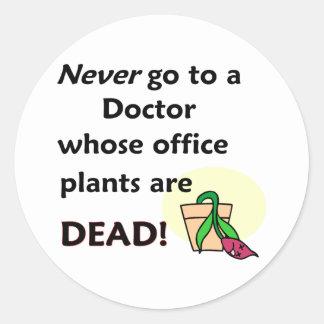 Dead Plants Round Sticker