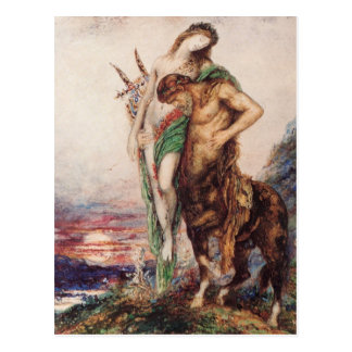 Dead poet borne by a centaur postcards