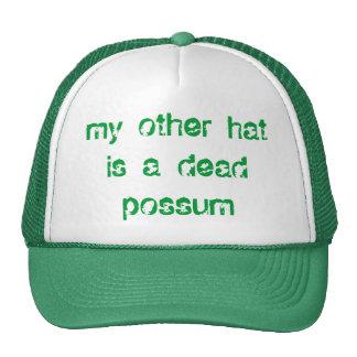 dead possum trucker hat