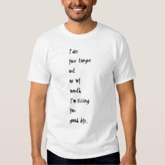 Dead Prawn Mens Take Your Tongue T Shirt + Logo
