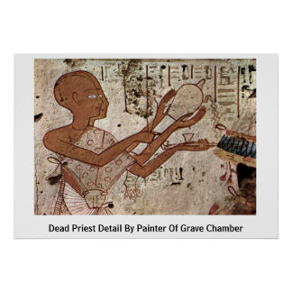 Dead Priest Detail By Painter Of Grave Chamber Poster